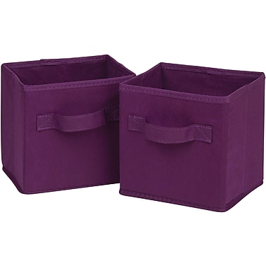 Honey Can Do 6pk Mini Non-Woven Foldable Cube, Purple