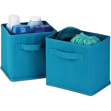 Honey Can Do 6pk Mini Non-Woven Foldable Cube, Blue
