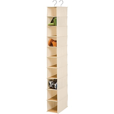 Honey Can Do 10 Shelf Hanging Organizer, Bamboo
