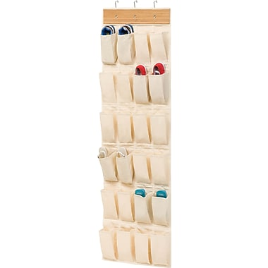 Honey Can Do 24 Pocket OTD Bamboo Shoe Organizer