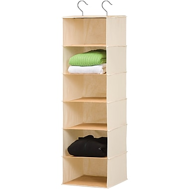 Honey Can Do 6 Shelf Bamboo Hanging Organizer