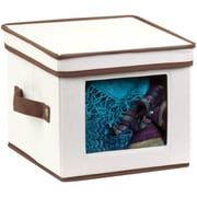 Honey Can Do Natural Canvas Small Window Storage Box