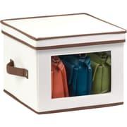 Honey Can Do Natural Canvas Medium Window Storage Box