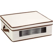 Honey Can Do Natural Canvas Large Window Storage Box