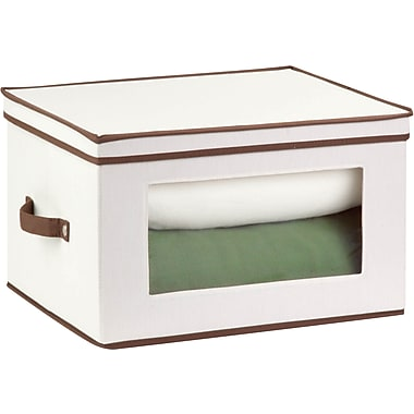 Honey Can Do Natural Canvas Tall Window Storage Chest