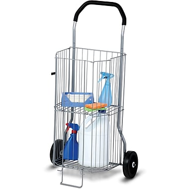 Honey-Can-Do International CRT-01383 two-wheeled Utility Cart, Silver/Gray