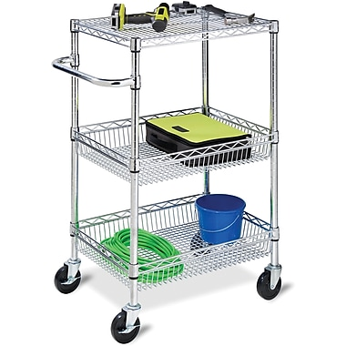 Honey Can Do® 3-Tier Chrome HD Urban Rolling Cart