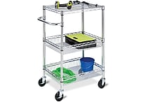 Honey Can Do 3-Tier Chrome HD Urban Rolling Cart