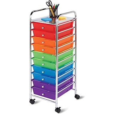 Honey-Can-Do Plastic 10-Drawer Storage Drawer Cart, Multicolor (CRT-02214)
