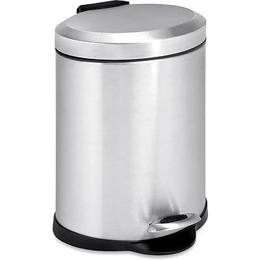 Honey Can Do 1.32 gal. Stainless Steel Oval Step Trash Can, Silver