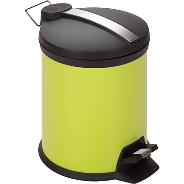 Honey Can Do Step Trash Can, Lime, 1.3 gal.