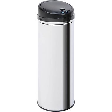 Honey Can Do 9.5 gal. Stainless Steel Sensor Trash Can, Silver