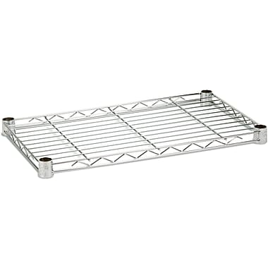 Honey Can Do Steel Shelf, 350lb 14in. X 24in., Chrome