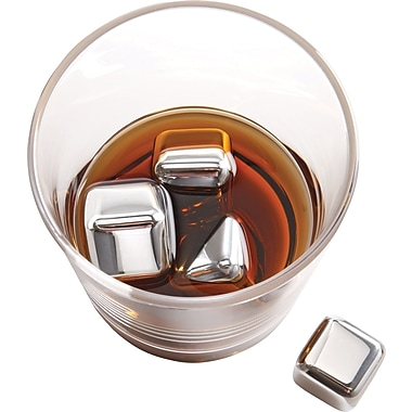 Brookstone n'ICE Cubes™ Drink Chillers, Stainless Steel