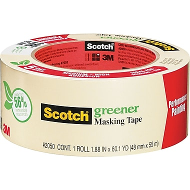 Scotch Greener Masking Tape, Performance Painting, 1.88in. x 60 Yards