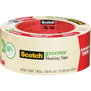 Scotch® Greener Masking Tape, Performance Painting, 1.88 x 60 Yards