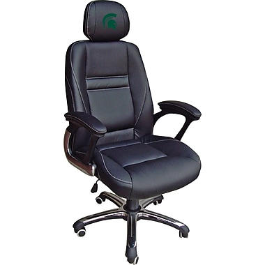 Wild Sports NCAA Leather Executive Chair, Michigan State Spartans