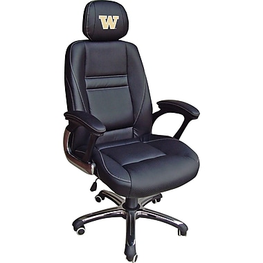Wild Sports NCAA Leather Executive Chair, Washington Huskies
