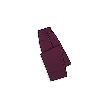 Medline Ladies Elastic Waist Pants, Wine, Large