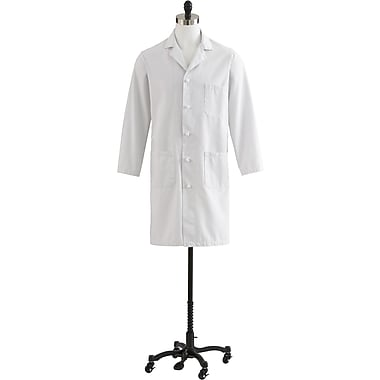 Medline Men's Full Length Premium Lab Coats, White/Ivory Twill, 36 Size