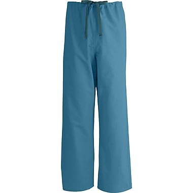 Medline AngelStat Unisex Large Reversible Drawstring Scrub Pants, Peacock (600NBTL-CM)