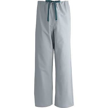 Medline AngelStat Unisex Large Reversible Drawstring Scrub Pants, Light Gray (600NGTL-CM)
