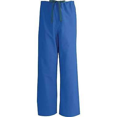 Medline AngelStat Unisex Medium Reversible Drawstring Scrub Pants, Sapphire (600NHTM-CA )