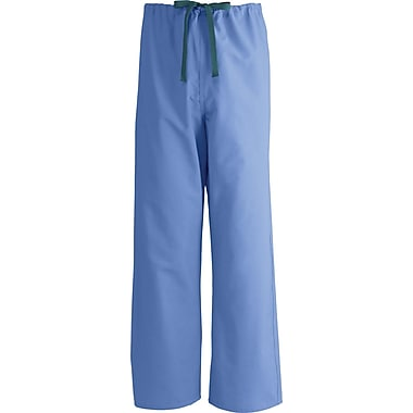 Medline AngelStat Unisex 4XL Reversible Drawstring Scrub Pants, Ceil Blue (600NTH4XL-CM)