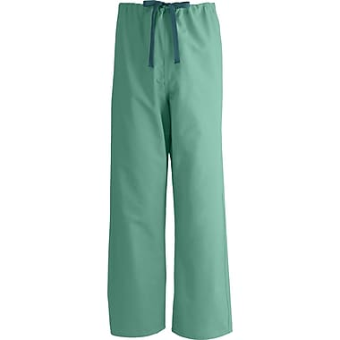 AngelStat® Unisex Rev A-Stat Drawstring Scrub Pants, Jade Green, MDL-CC, Small, Extra Long Length
