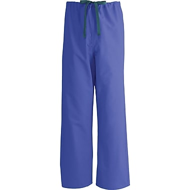 Medline AngelStat Unisex Medium Reversible Drawstring Scrub Pants, Purple (600NRPM-CA)