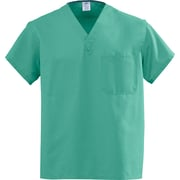 Medline AngelStat Unisex Large Reversible V-Neck Scrub Top, Jade Green (M610NTJL-CA)