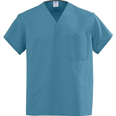 Angelstat® Unisex Two-pocket A-Stat Rev V-neck Scrub Tops, Peacock, MDL-CC, Small