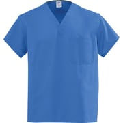 Angelstat® Unisex Two-pocket A-Stat Rev V-neck Scrub Tops, Sapphire, MDL-CC, Small