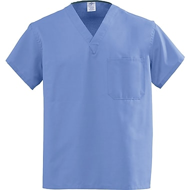 Angelstat® Unisex Two-pocket Rev V-neck Scrub Tops, Ceil Blue, MDL-CC, 4XL