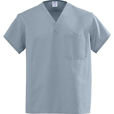 Medline AngelStat Unisex 5XL Reversible V-Neck Scrub Top, Misty Green (610NTZ5XL-CA)