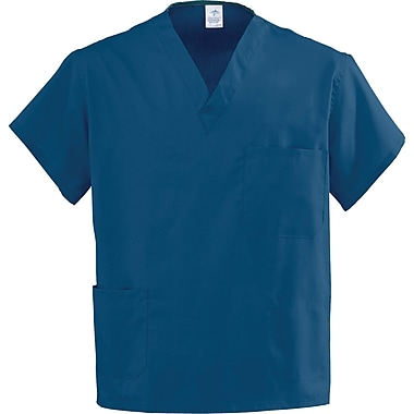 Angelstat® Unisex Two-pockets V-neck Rev Scrub Tops, Navy, ANG-CC, 5XL