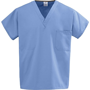 Medline Unisex One-pocket Rev Tops, Ceil Blue, Medium