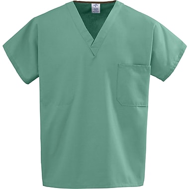 Medline Unisex One-pocket Rev Tops, Jade, 2XL