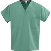 Medline Unisex Small Reversible Scrub Top, Jade (648MJSS)
