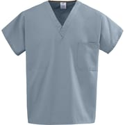 Medline Unisex Medium Reversible Scrub Top, Misty Green (648MZSM)