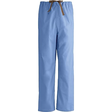 Medline Unisex Rev Drawstring Scrub Pants, Ceil Blue, 2XL, Reg Length