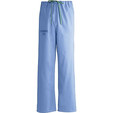 Medline Unisex Rev Hyperbaric Drawstring Scrub Pants, Ceil Blue, MDL-CC, 2XL, Reg Length