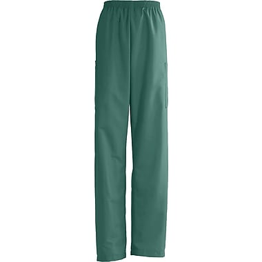 AngelStat® Unisex Elastic Cargo Scrub Pants, Emerald, XL, Medium Length
