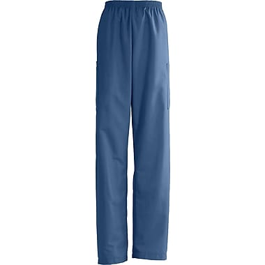 AngelStat® Unisex Elastic Cargo Scrub Pants, Navy Blue, 2XL, Extra Long Length