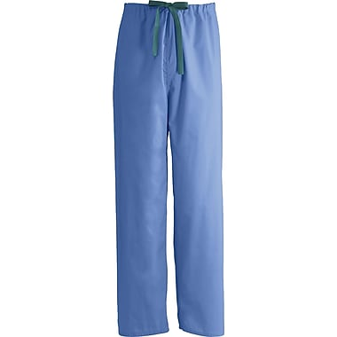 Encore™ Unisex Rev Drawstring Scrub Pants, Ceil Blue, MDL-CC, Large, Reg Length