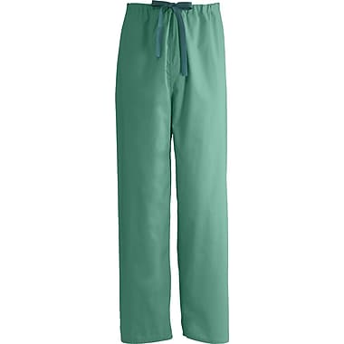 Encore™ Unisex Rev Drawstring Scrub Pants, Jade Green, MDL-CC, Small, Reg Length