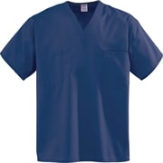 Encore™ Unisex One-pocket Rev Scrub Tops, Navy, FASCCMedium