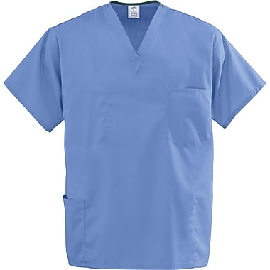 Encore™ Unisex Four-pockets Rev Scrub Tops, Ceil Blue, MDL-CC, 2XL