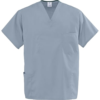 Encore™ Unisex Four-pockets Rev Scrub Tops, Misty Green, MDL-CC, 2XL