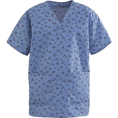 Angelstat® Ladies Two-pockets V-neck Scrub Tops, Forest Flowers, Large